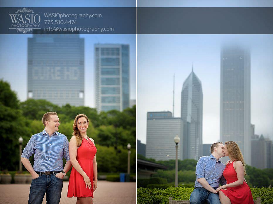 Sunrise-Chicago-Engagement-skyline-city-empty-flirty-kiss-windy-session-photo-ideas-073 Sunrise Chicago Engagement - Nathalie + Nick
