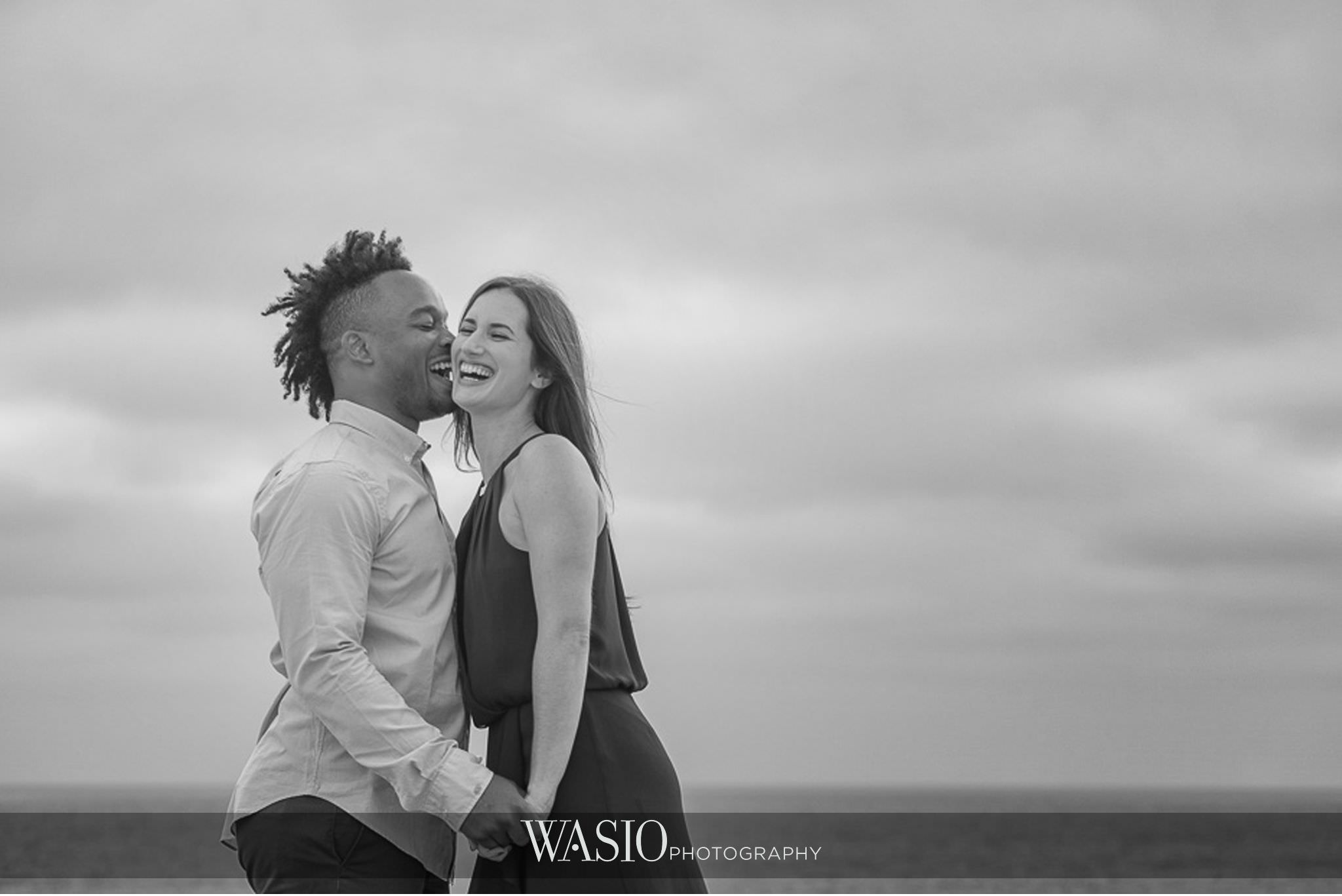 Sunset-Cliffs-San-Diego-Engagement-black-white-photojournalistic-kiss-fun-happy-photography-60 Sunset Cliffs San Diego Engagement - Laura and La Broi