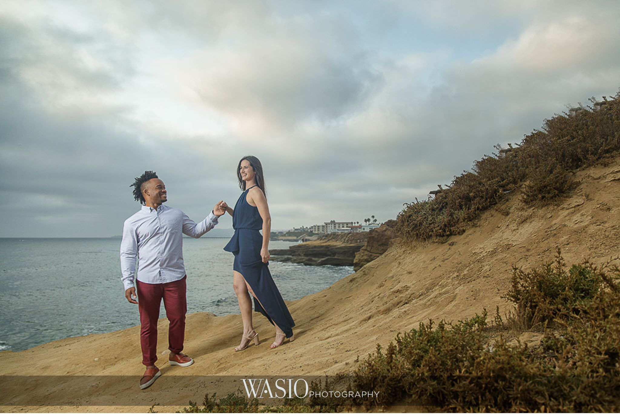 Sunset-Cliffs-San-Diego-Engagement-dramatic-clouds-ocean-view-inspiration-photo-61 Sunset Cliffs San Diego Engagement - Laura and La Broi