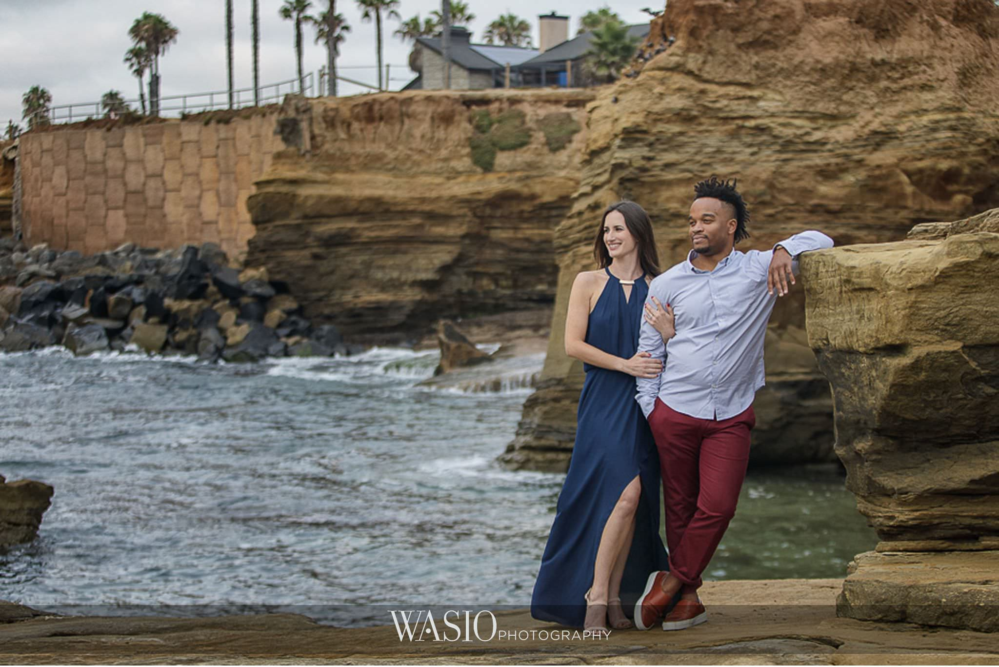 Sunset Cliffs San Diego Engagement – Laura and La Broi