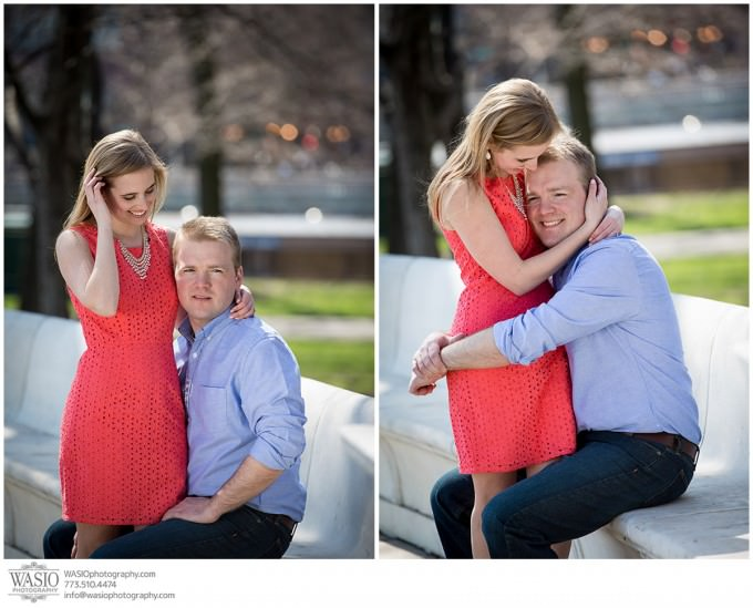 WASIO-photography-engagement-session-lake-michigan-beach-10-modern-fun-portrait-680x549 Engagement Pictures at The Art Institute Gardens - Lauren+Nick