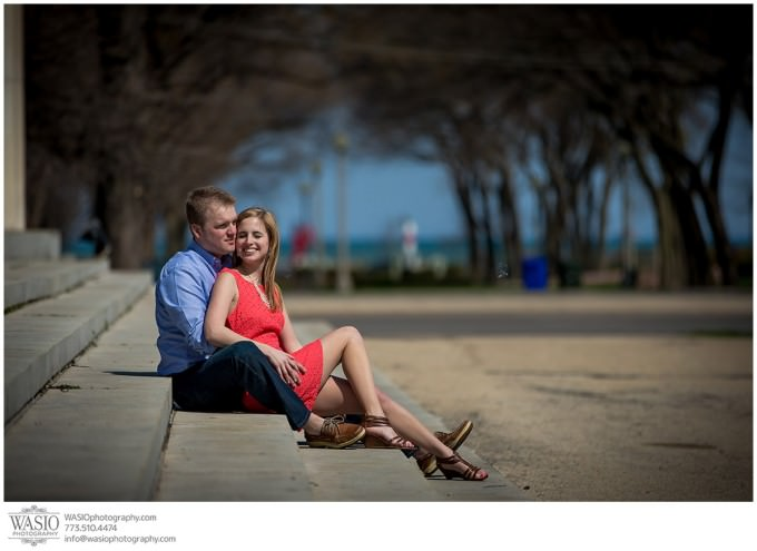 WASIO-photography-engagement-session-lake-michigan-beach-11-modern-fun-portrait-680x495 Engagement Pictures at The Art Institute Gardens - Lauren+Nick