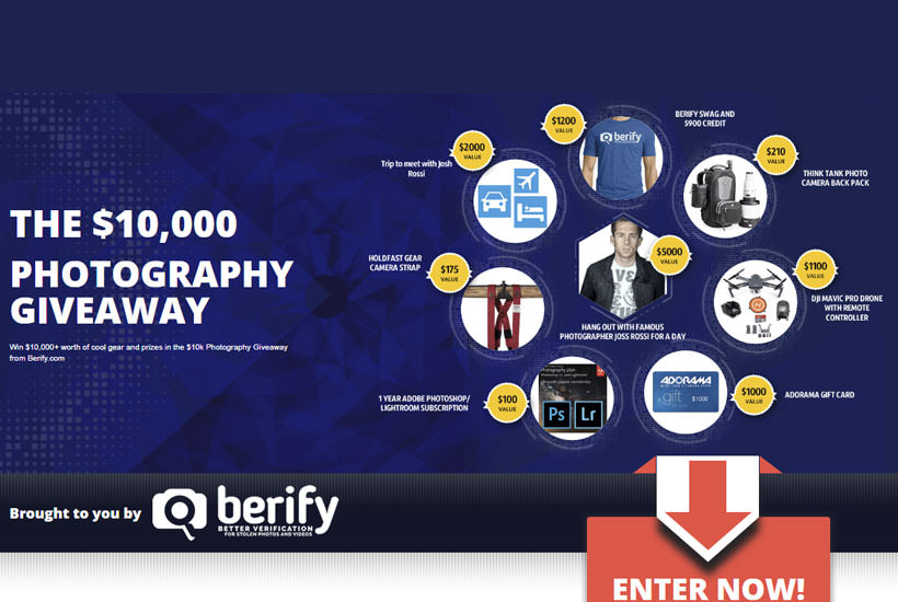 WIN $10K in Prizes and Photography Gear With Berify!