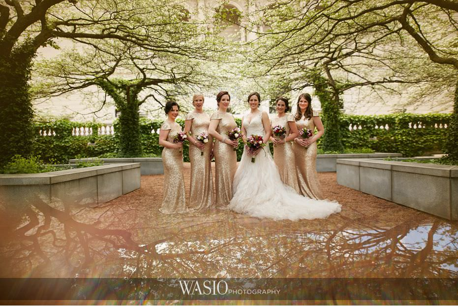 Winner-of-The-Knot-2017-Best-of-Weddings-art-institute-wedding-portrait-bridal-party-68 Winner of The Knot 2017 Best of Weddings