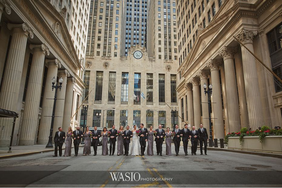 Winner-of-The-Knot-2017-Best-of-Weddings-chicago-board-of-trade-group-portrait-wedding-party-65 Winner of The Knot 2017 Best of Weddings