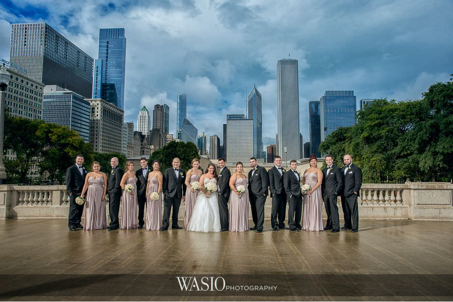Winner-of-The-Knot-2017-Best-of-Weddings-epic-group-photography-downtown-chicago-55 Winner of The Knot 2017 Best of Weddings