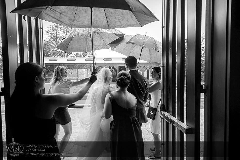 Wynstone-Golf-Club-Wedding-black-white-photography-church-exit-rain-umbrellas-62-Edit Wynstone Golf Club Wedding - Jen + Steve