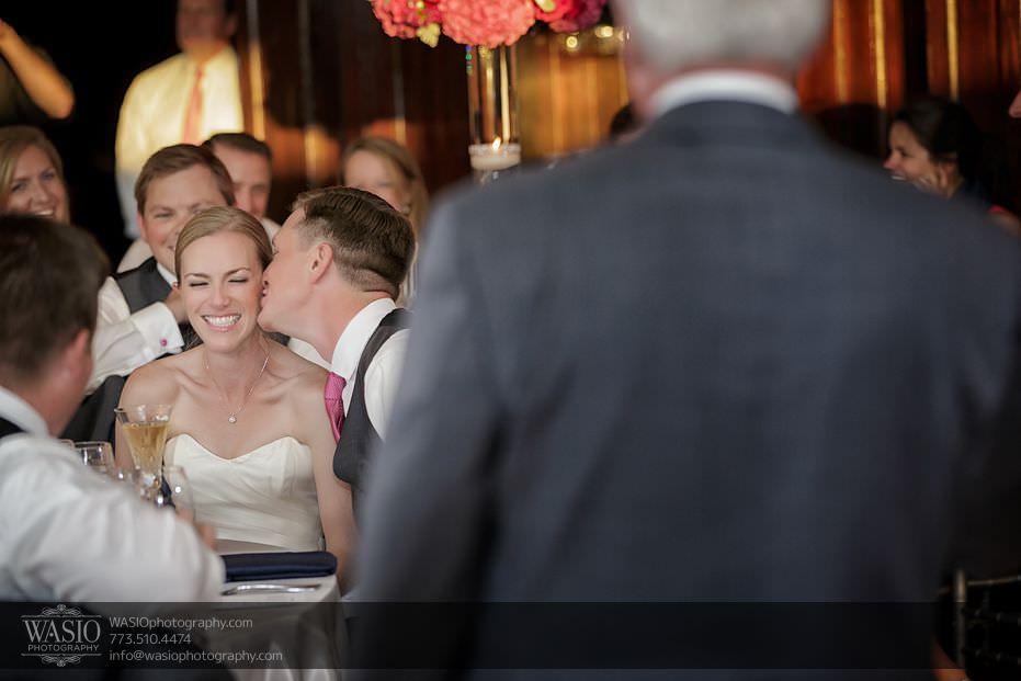 Wynstone-Golf-Club-Wedding-father-of-bride-speech-cute-kiss-on-check-groom-81-Edit Wynstone Golf Club Wedding - Jen + Steve