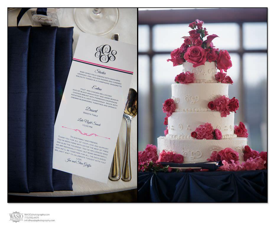Wynstone-Golf-Club-Wedding-white-cake-pink-flowers-6 Wynstone Golf Club Wedding - Jen + Steve