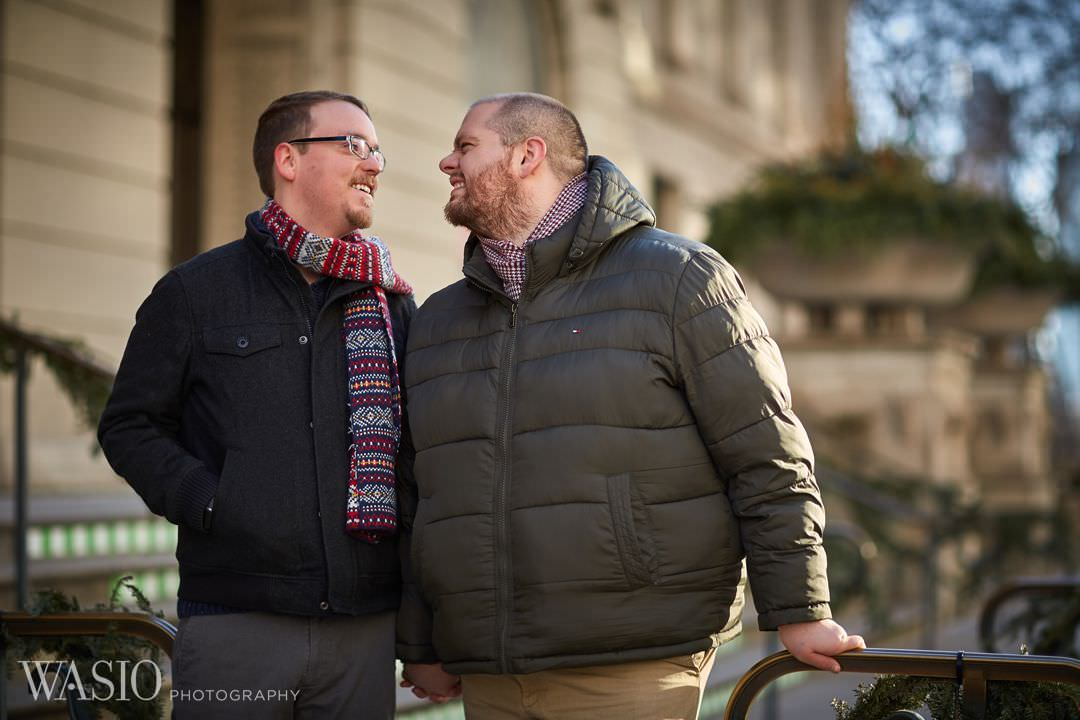 art-institute-gay-happy-same-sex-smile Chicago same sex engagement - Jeffrey + Brandon