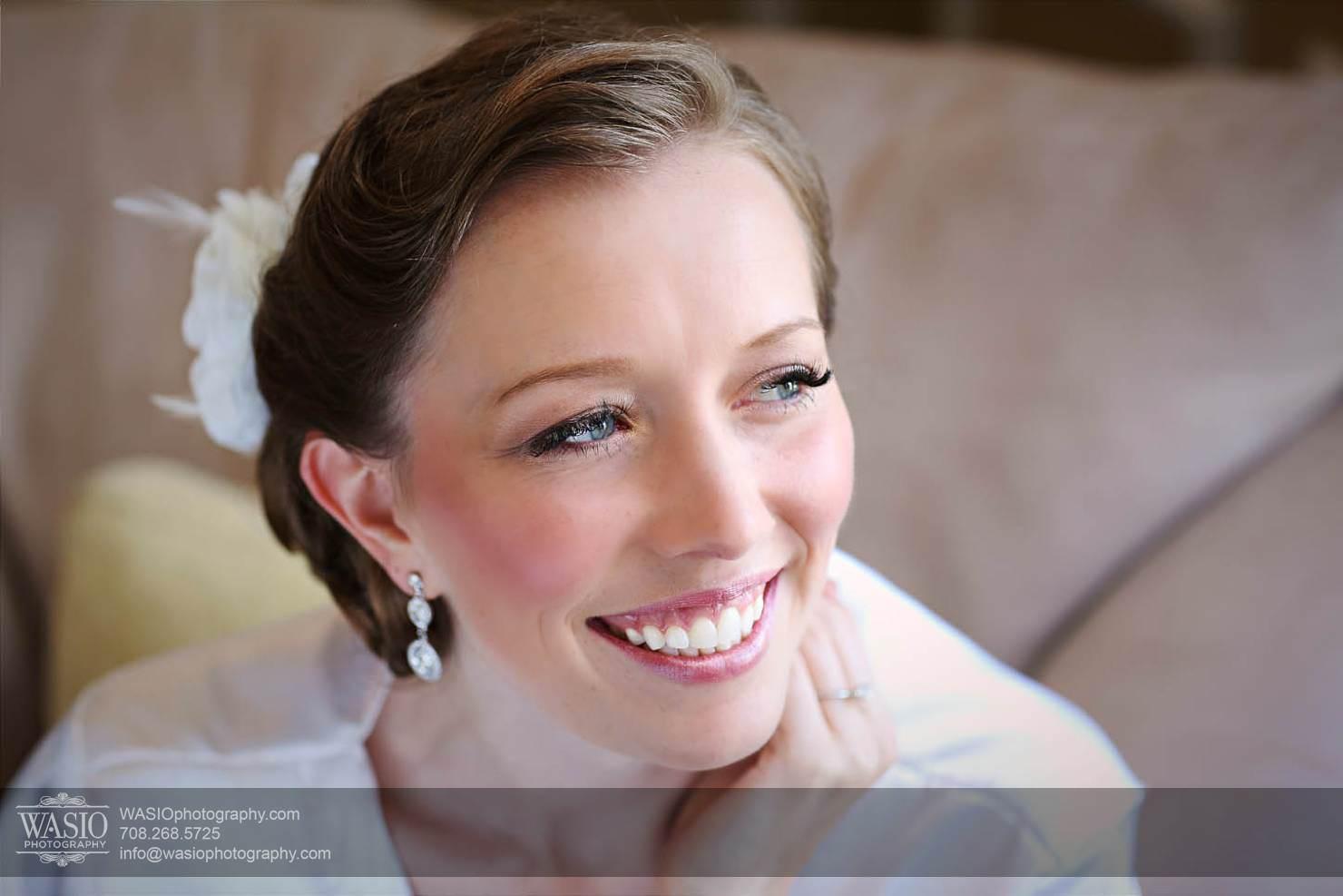 bridal-portrait-smile-preparation Chevy Chase Country Club Wedding - Elizabeth & Michael