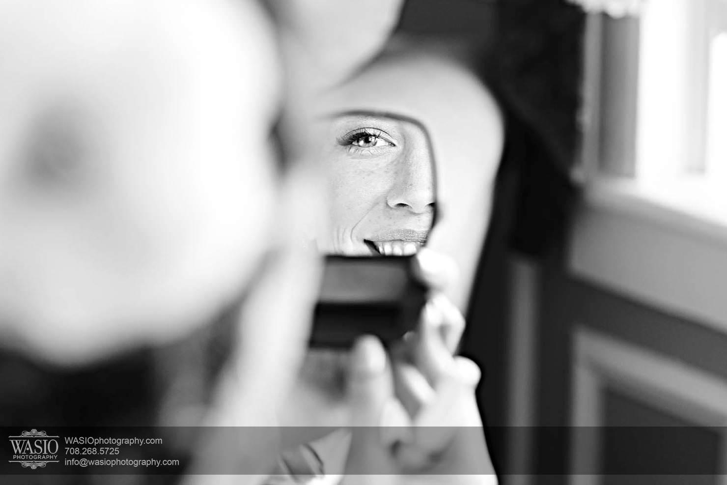 bride-preparation-portrait-mirror-reflection Chevy Chase Country Club Wedding - Elizabeth & Michael