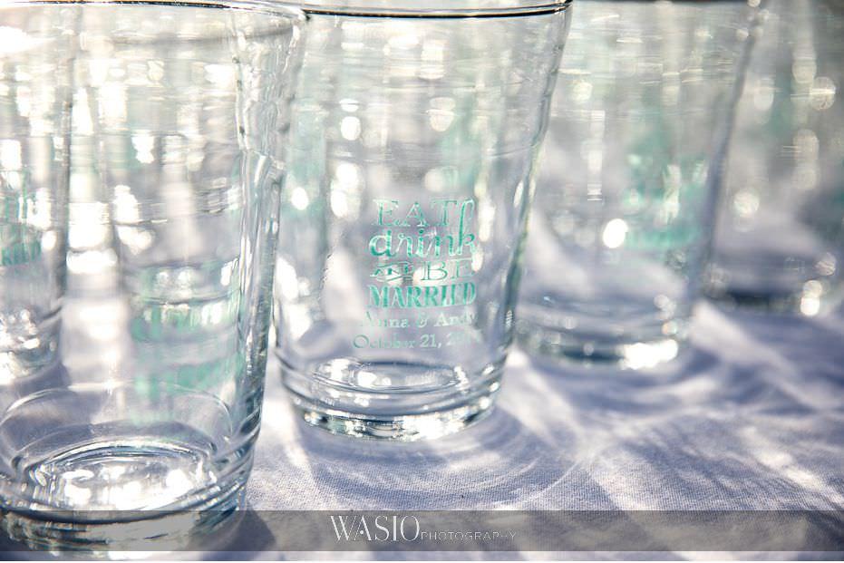 catamaran-resort-hotel-wedding-custom-celebratory-glasses-66 Catamaran Resort Hotel Wedding - Anna and Andy