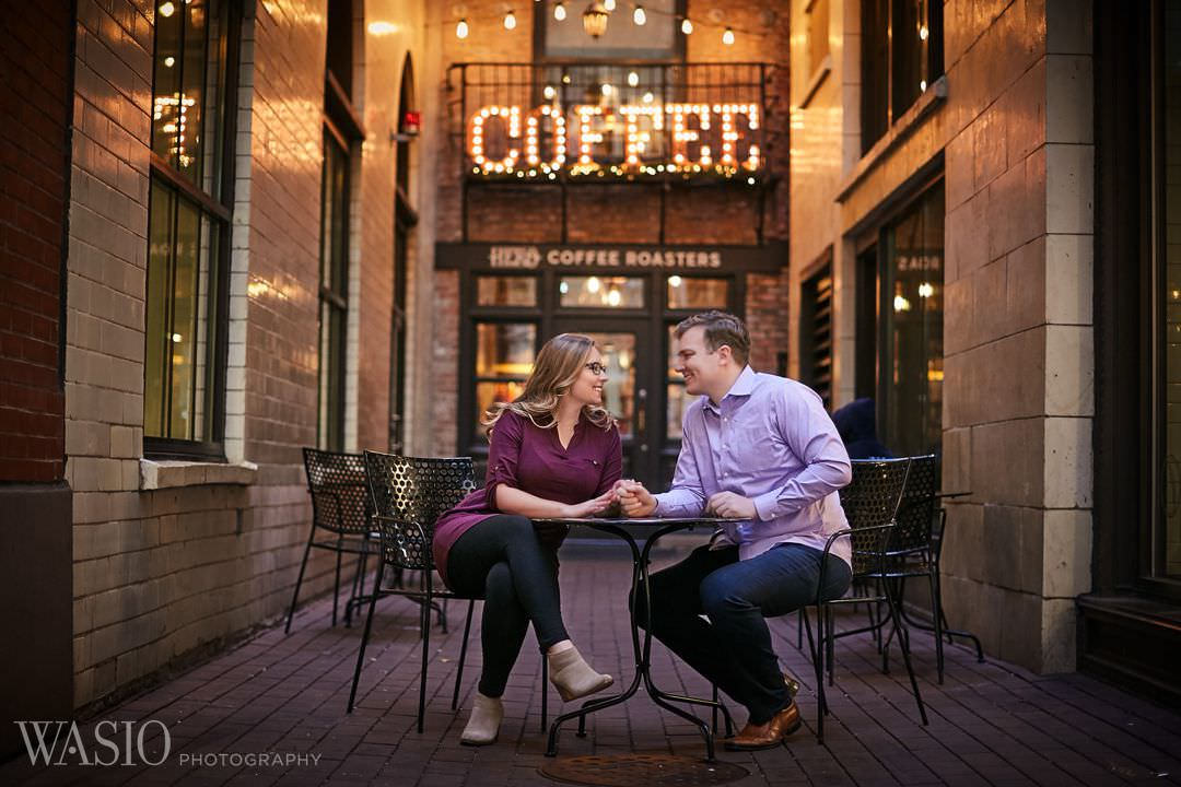 chicago-coffee-shop-engagement-in-love Chicago winter engagement session - Lucy + John