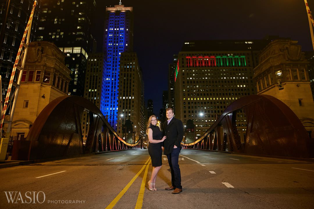 chicago-river-engagement-wedding-planner Chicago winter engagement session - Lucy + John