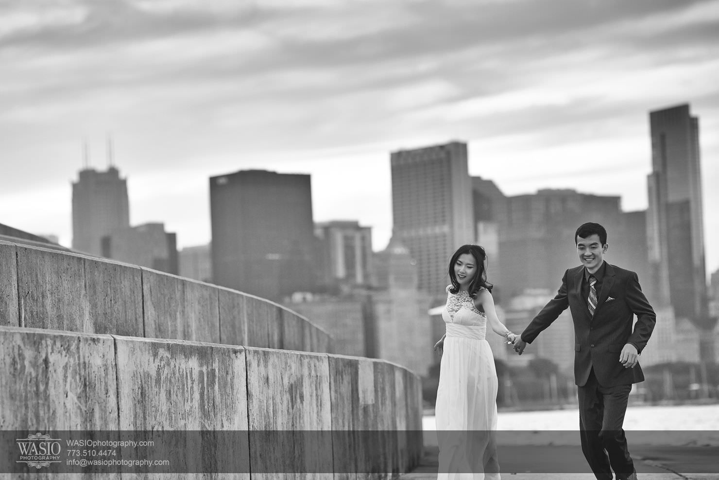 chicago-sunset-engagement-session-downtown-destination-001018 Chicago Sunset engagement - Yulin & Mika