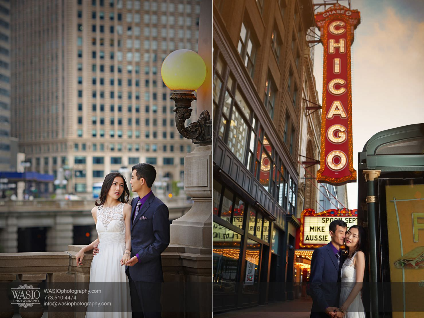 chicago-sunset-engagement-session-downtown-destination-001021 Chicago Sunset engagement - Yulin & Mika