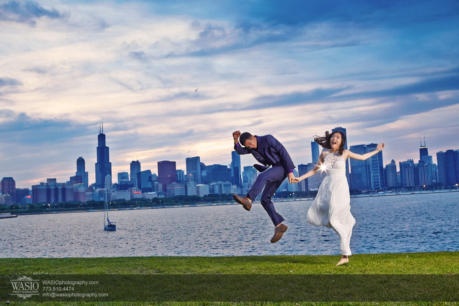 chicago-sunset-engagement-session-downtown-destination-001029 Chicago Sunset engagement - Yulin & Mika
