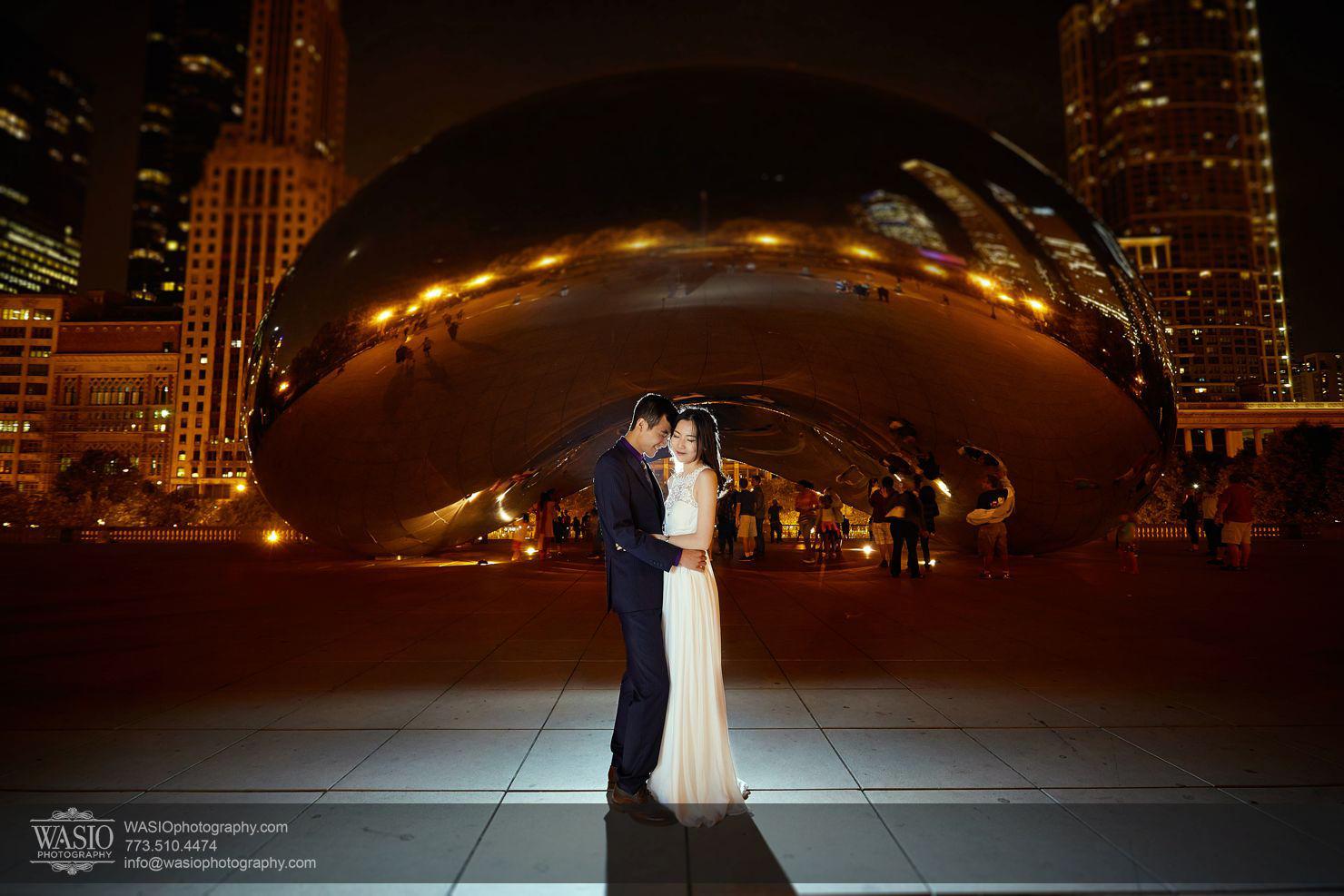 Chicago Sunset engagement – Yulin & Mika
