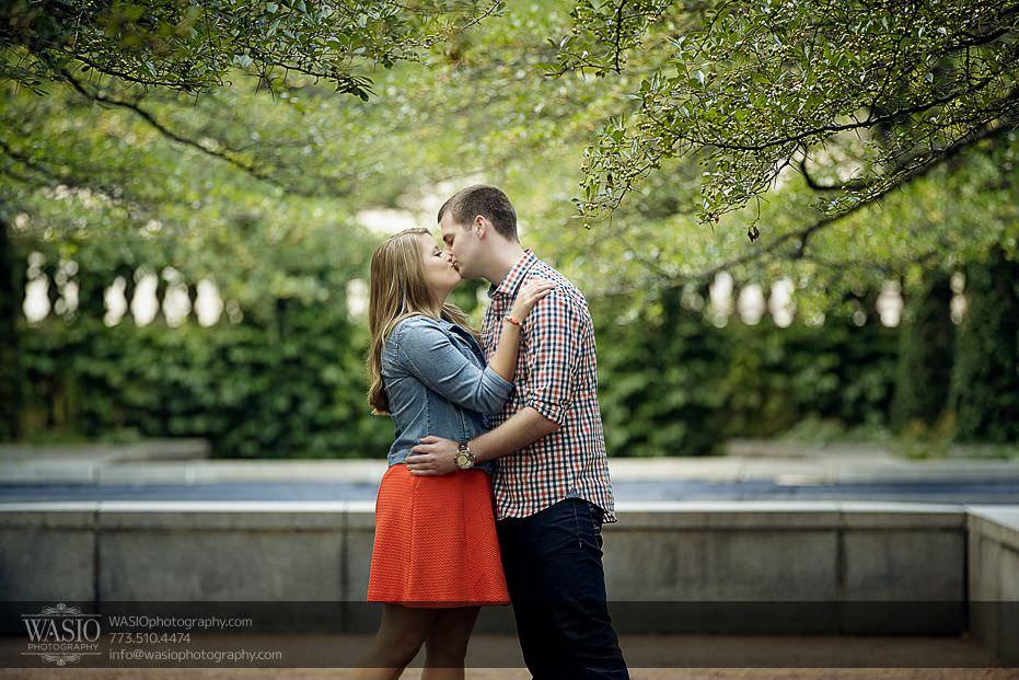 destination-engagement-Chicago-outdoor-passion-kiss-in-park-37 Destination Engagement - Courtney and Mitch