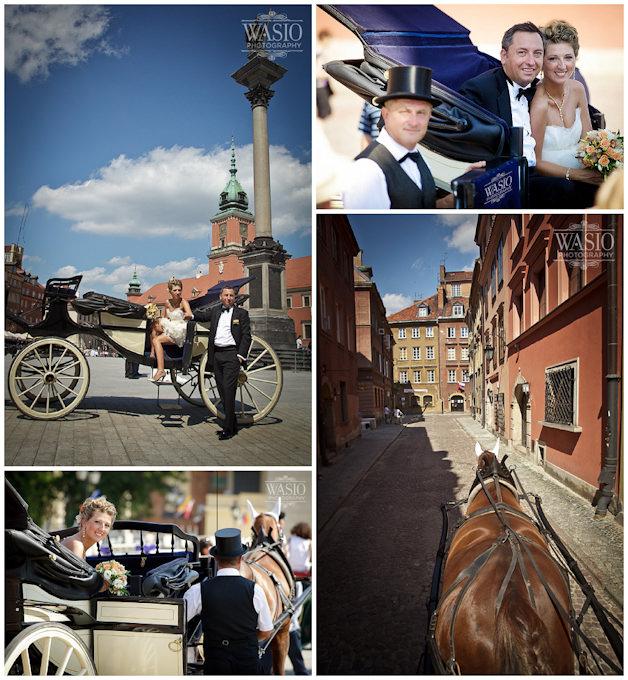 destination-wedding-europe-horse-carriage1 Europe Destination Wedding in Warsaw Poland - Chris + Gosia