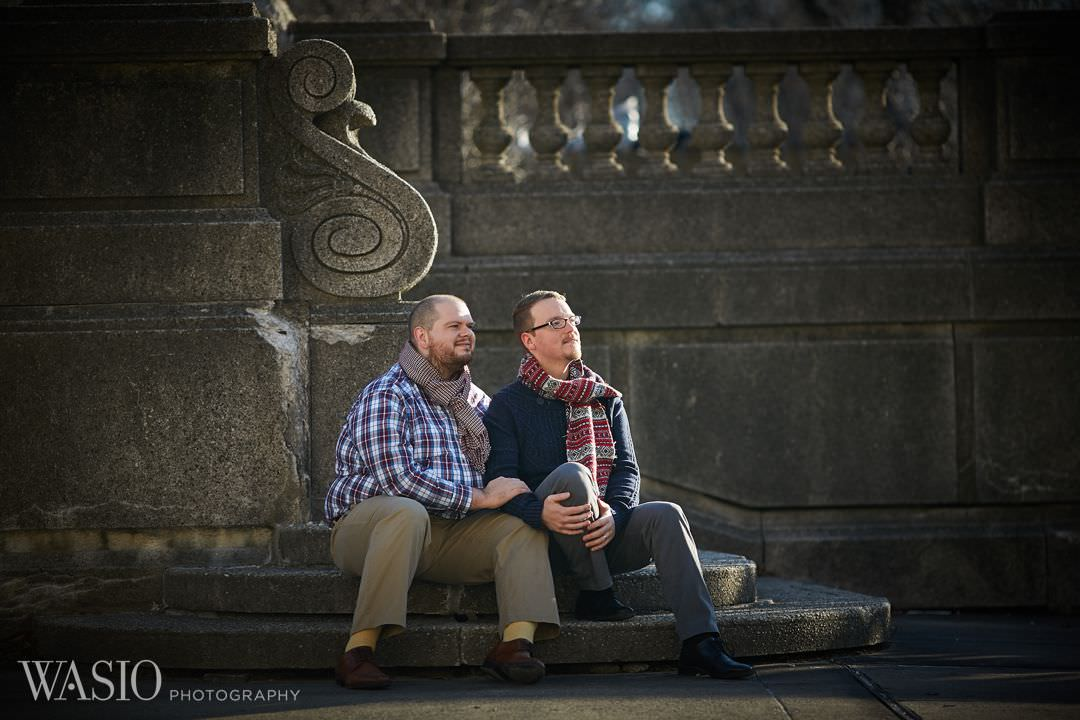 downtown-chicago-gay-engagement-wedding-couple-lgbt Chicago same sex engagement - Jeffrey + Brandon