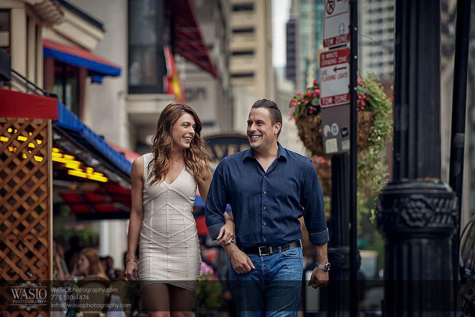 engagement-photo-ideas-engaged-couple-walking-happy-flirting-0717 Engagement Photo Ideas - Monica + Stephen