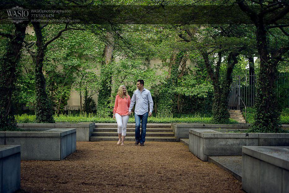 engagement-photos-art-institute-nature-summer-romance-holding-hands-walking-0705 Engagement Photos - Diana + Michael