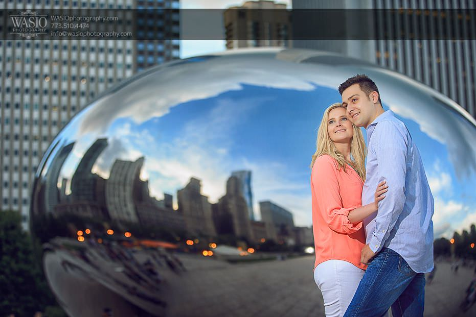 engagement-photos-chicago-skyline-bean-love-0702 Engagement Photos - Diana + Michael