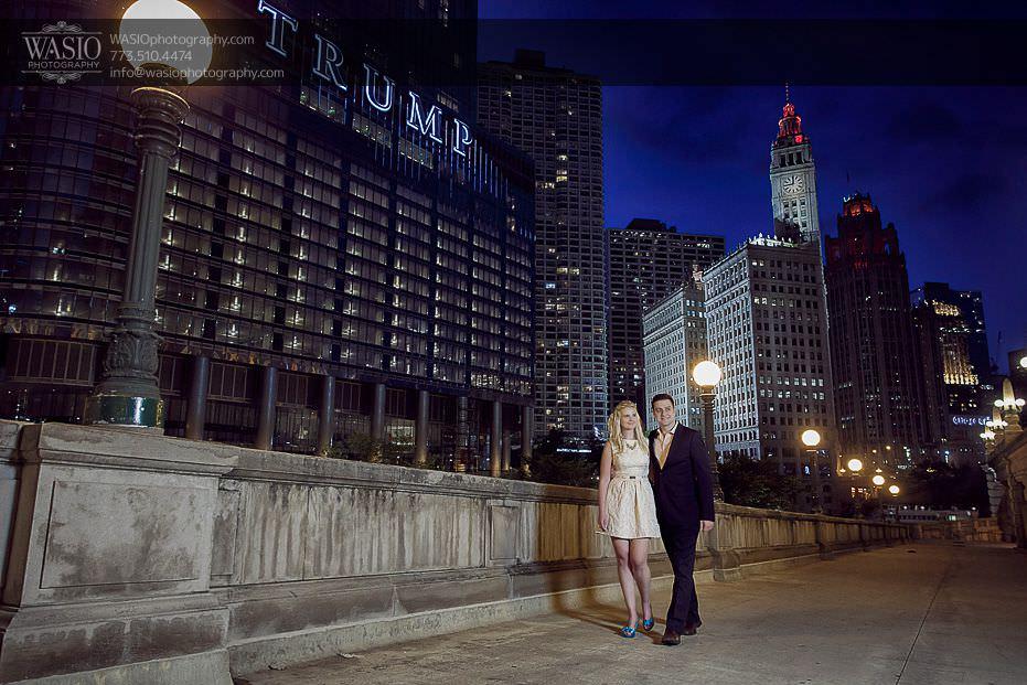 engagement-photos-sunset-trump-tower-walking-night-time-0710 Engagement Photos - Diana + Michael