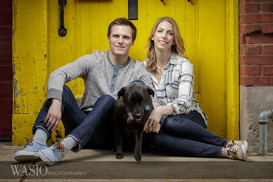 engagement-session-west-loop-colorful-doors-yellow-red-99 Engagement Session - Samantha and Marcin