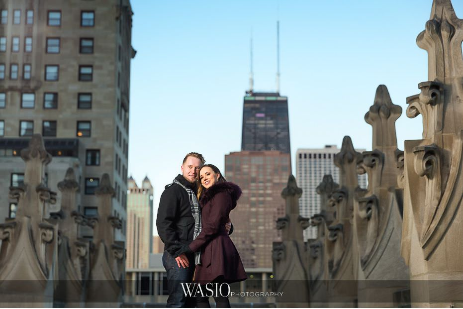 evening-engagement-photos-Chicago-Tribune-rooftop-city-skyline-romantic-photography-San-Diego-California-58 Evening Engagement Photos - Izabela and Marcin