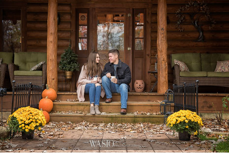 fall-engagement-pictures-perfect-fall-photos-romantic-colors-log-cabin-porch-photos-05 The Most Romantic Fall Engagement Pictures - Julia and Luis