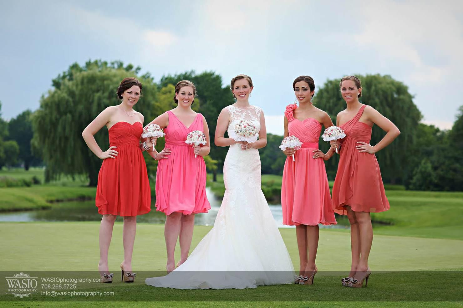 golf-course-wedding-summer-bridesmaids-chevy-chase-country-club Chevy Chase Country Club Wedding - Elizabeth & Michael