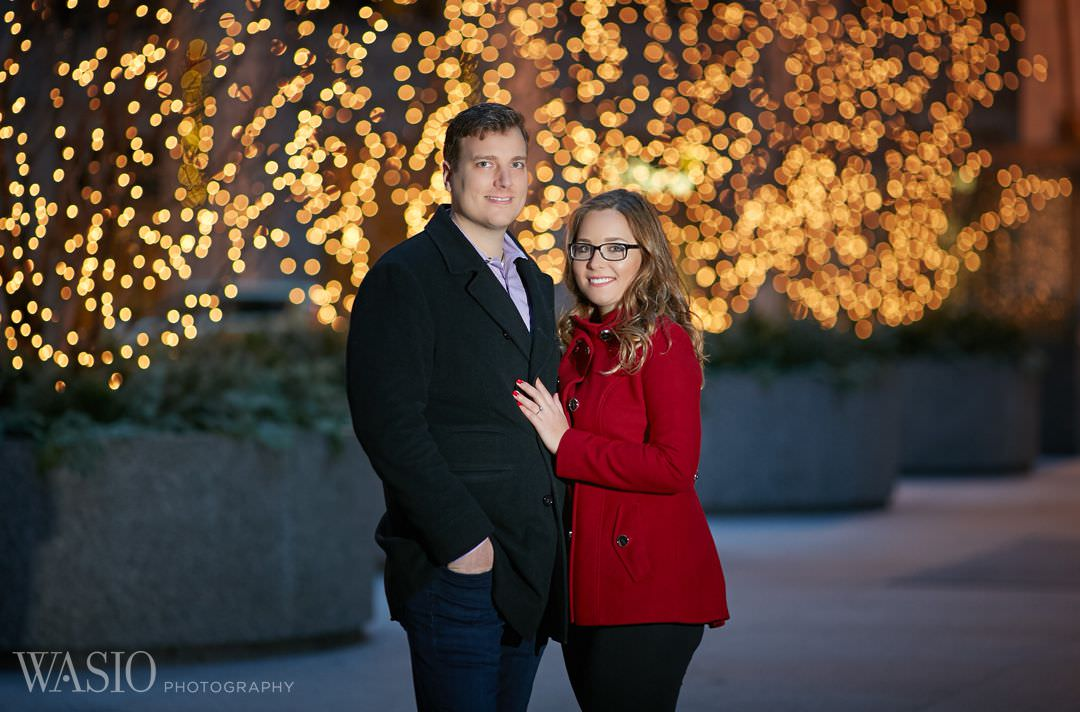 holiday-engagement-bokeh-chicago-bride Chicago winter engagement session - Lucy + John