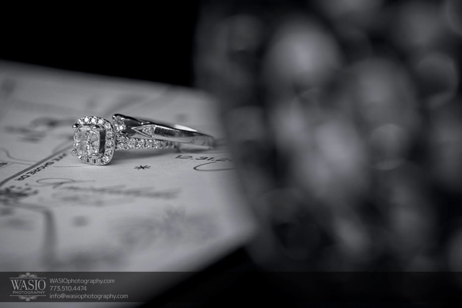 knickerbocker-hotel-wedding-detail-engagement-ring-map-chicago-12-931x621 Knickerbocker Hotel Wedding - Carrie + John