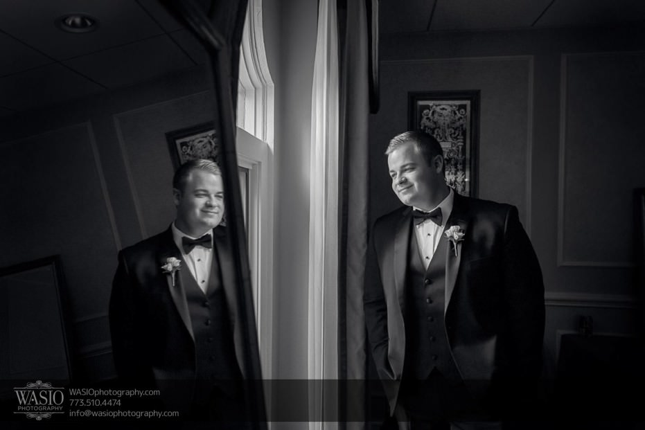 knickerbocker-hotel-wedding-groom-preparation-reflection-black-white-photography-11-931x621 Knickerbocker Hotel Wedding - Carrie + John