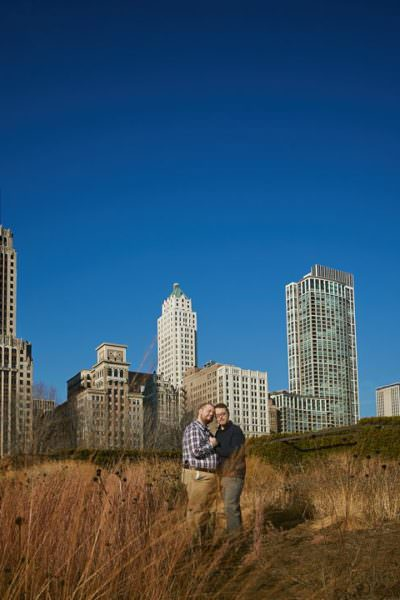 Chicago same sex engagement – Jeffrey + Brandon