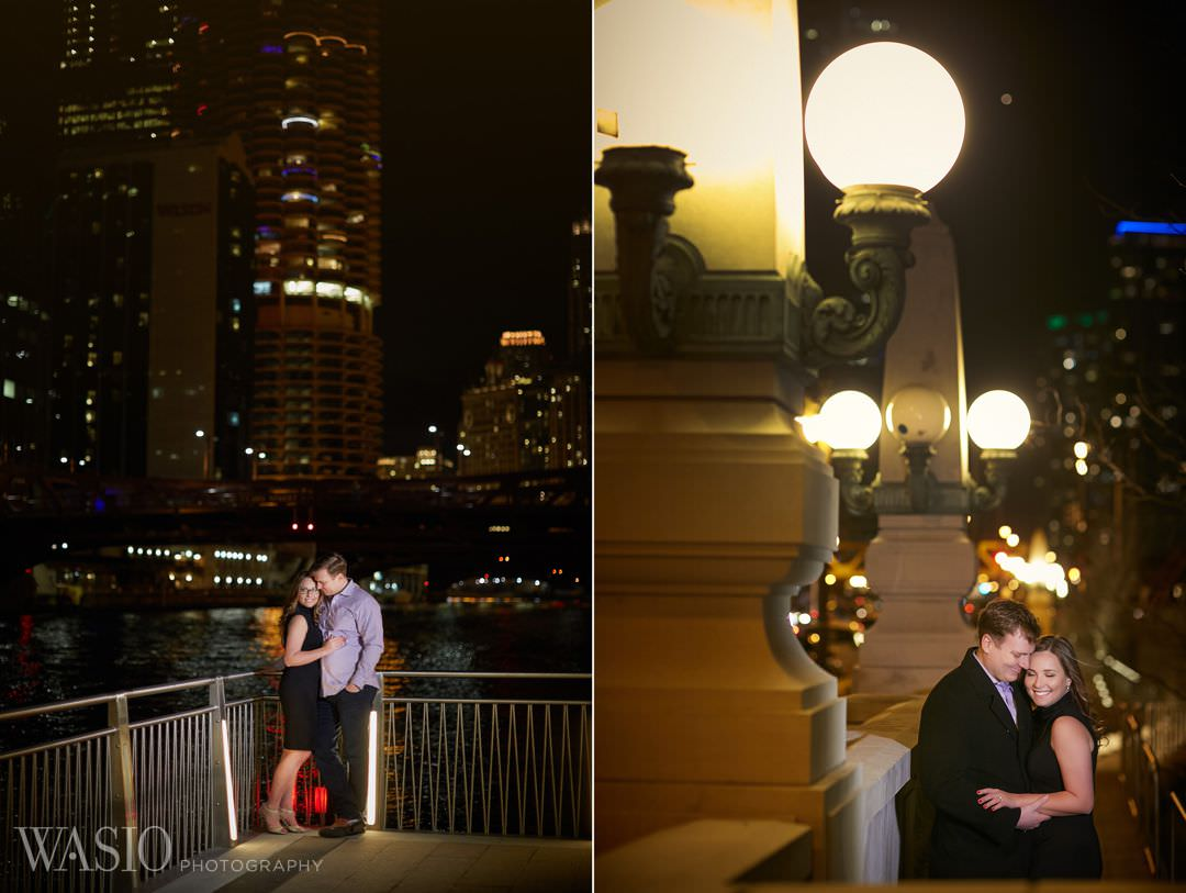 romantic-bride-river-chicago-city Chicago winter engagement session - Lucy + John