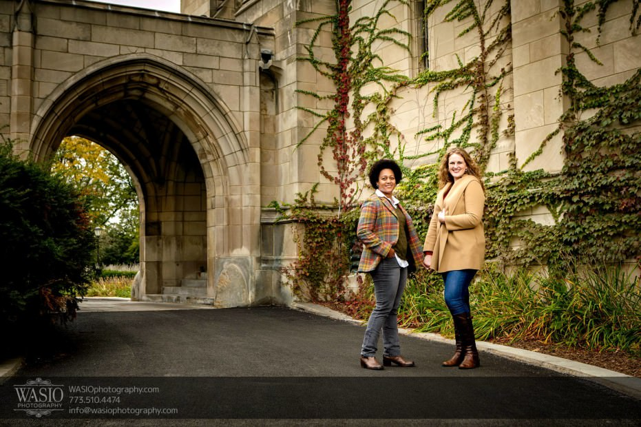 same-sex-engagement-fall-color-chicago-_38-931x620 University of Chicago same sex engagement - Olivia + Givonna