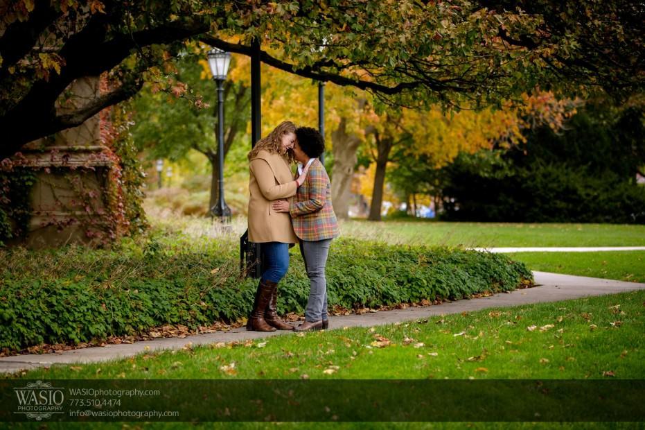 same-sex-engagement-hug-passion-flirt-_40-931x620 University of Chicago same sex engagement - Olivia + Givonna