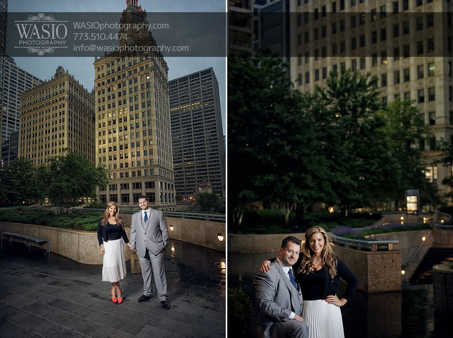 sunset-engagement-photos-Chicago-wrigley-building-176 Sunset Engagement Photos - Christy + Nicky