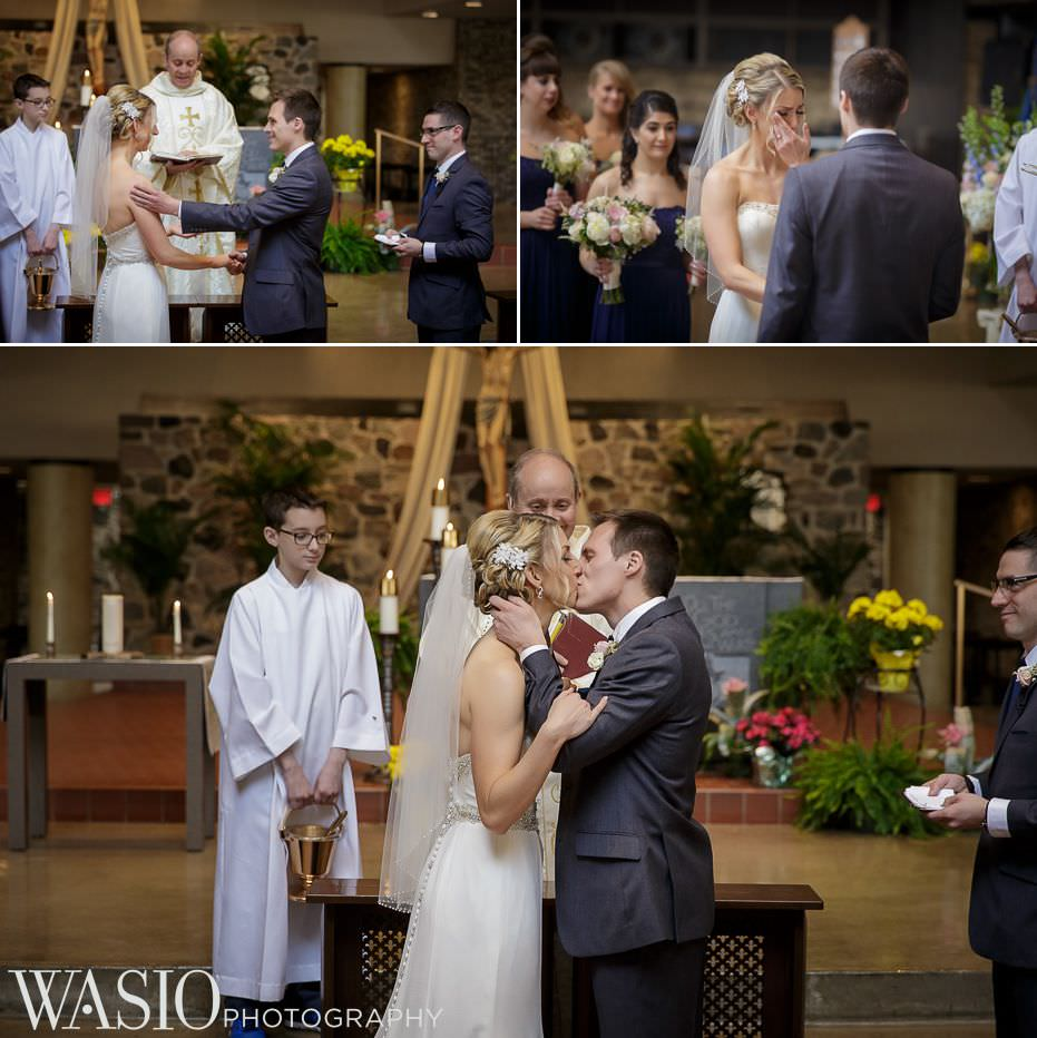 the-grove-redfield-estate-wedding-catholic-church-ceremony-photos-first-kiss-husband-wife-41 The Grove Redfield Estate Wedding - Sam and Marcin
