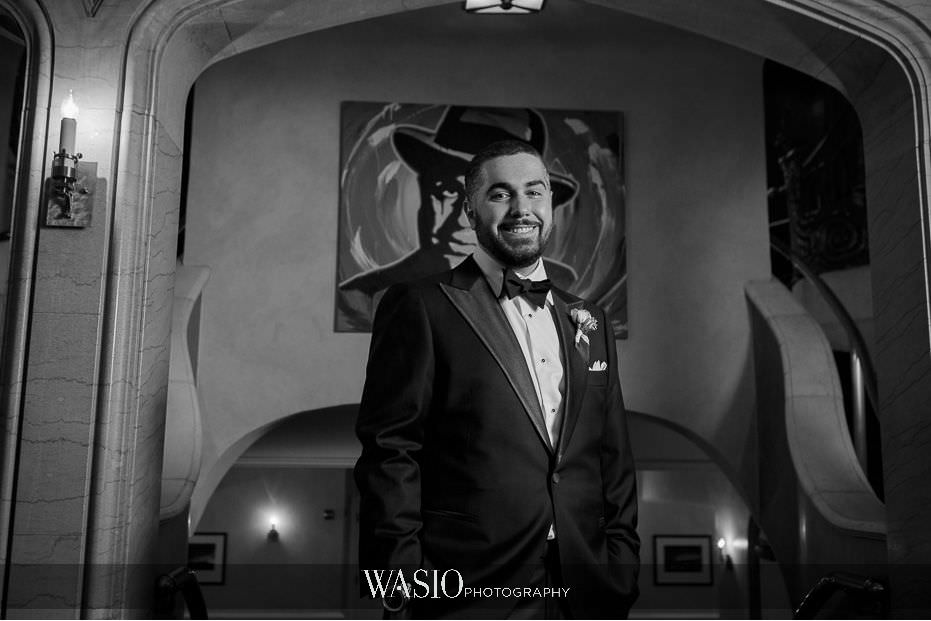 the-knot-best-of-weddings-hall-of-fame-blog-blackstone-groom-black-white-portrait-39 The Knot Best of Weddings Hall of Fame - WASIO Photography