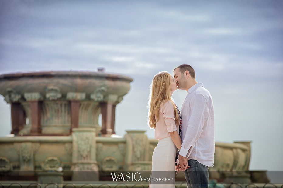 the-knot-best-of-weddings-hall-of-fame-blog-buckingham-fountain-millenium-park-spring-engagement-photo-kiss-29 The Knot Best of Weddings Hall of Fame - WASIO Photography