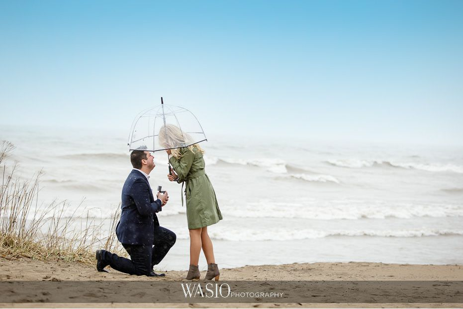 the-knot-best-of-weddings-hall-of-fame-blog-evanston-wilmette-spring-surprise-proposal-engagement-clear-umbrella-he-got-down-on-one-knee-12 The Knot Best of Weddings Hall of Fame - WASIO Photography