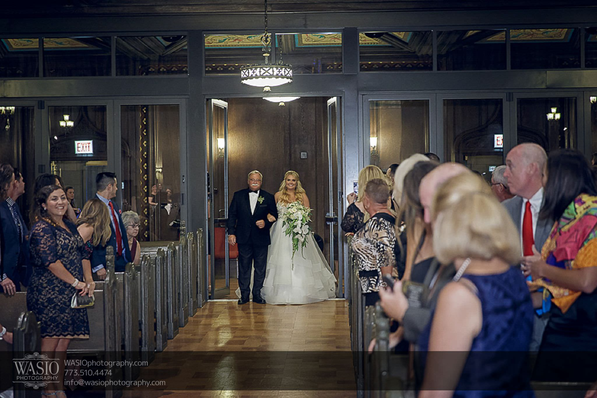 venue-one-chicago-wedding-First-Methodist-Church-bride-father-orchids-ceremony-58 Venue One Chicago Wedding - Katie + Mike