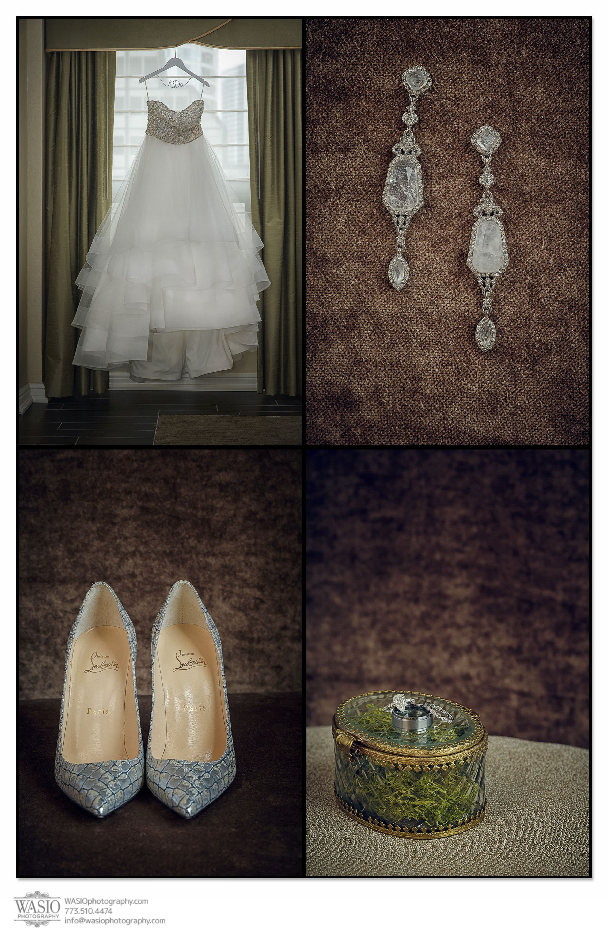 venue-one-chicago-wedding-bridal-details-bella-bianca-red-bottoms-louboutin-etsy-Hayley-Paige-52 Venue One Chicago Wedding - Katie + Mike