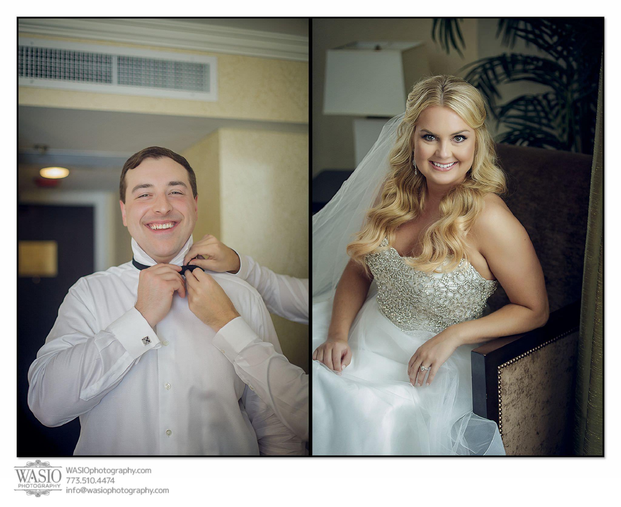venue-one-chicago-wedding-bride-groom-preparation-Palmer-House-Hotel-53 Venue One Chicago Wedding - Katie + Mike