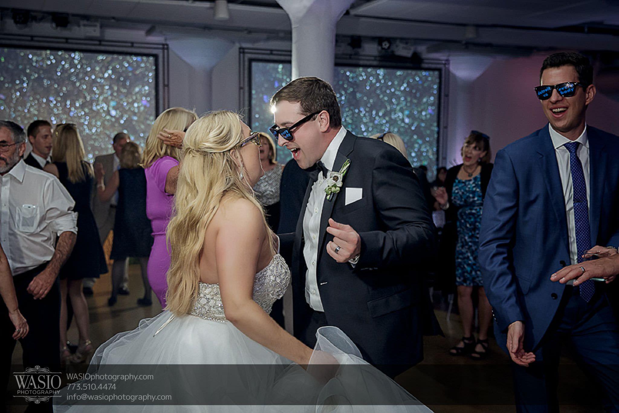 venue-one-chicago-wedding-custom-sun-glasses-dance-floor-73 Venue One Chicago Wedding - Katie + Mike